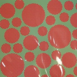 Stickers - Rice - Rouge pois blancs