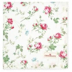 Serviette de table - Greengate - Constance white