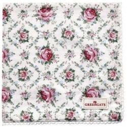 Serviette de table - Greengate - Malene petit white