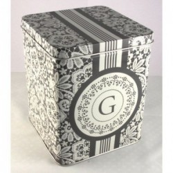 Boite en métal - Greengate - Christel grey - Moyenne