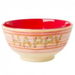 Bol Mélamine - Rice - Happy pink