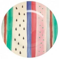 Assiette plate Mélamine - Rice - Louise's Stripe - 25 cm