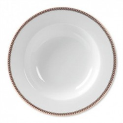 Assiette creuse - Floral 2 blanche - Pip Studio - 21.5 cm