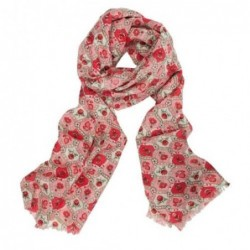 Foulard floral en laine entrelacée Pip Studio - Rose