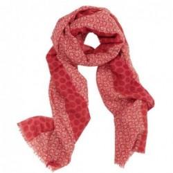 Foulard floral en laine bouillie Pip Studio - Rouge foncé