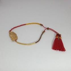 Bracelet perles Plume - Rouge et or - Nusa Dua