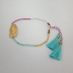 Bracelet perles Plume - Quadricolore - Nusa Dua