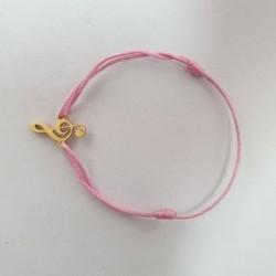 Bracelet Clé de Sol - Rose bonbon - Nusa Dua