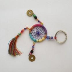 Porte-clés attrape-rêves - Multicolore - Natural Life
