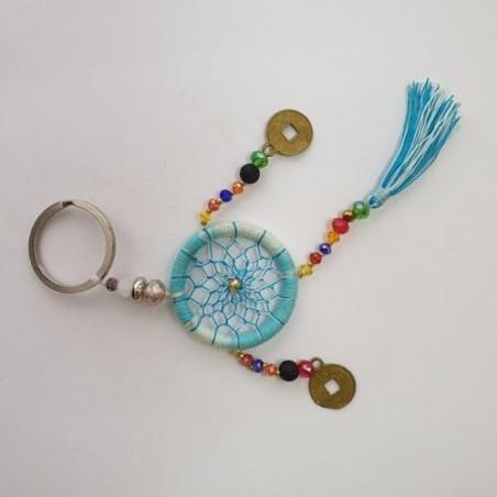 Porte-clés attrape-rêves - Bleu clair - Natural Life