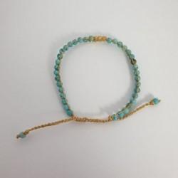 Bracelet or - Perles bleu turquoise - Nusa Dua
