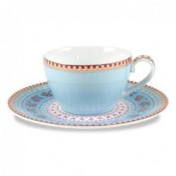 Tasse à espresso et soucoupe Pip Studio - Bleue