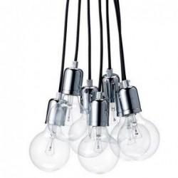 Lustre Pendel 7 lampes - Bloomingville - Noir