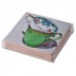 4 Dessous de verre - Rice - Tea time