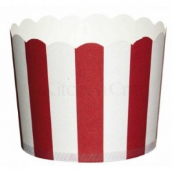Lot de 20 caissettes a cupcakes - rouge et blanc