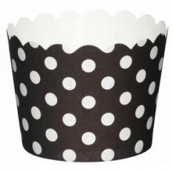 Lot de 20 caissettes a cupcakes - noir et blanc