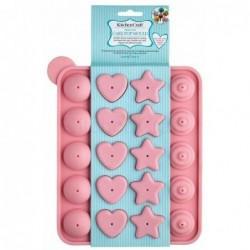 Moule a cake-pops en silicone formes - rose