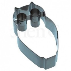 Emporte-piece - Hiboux - 9 cm - metal