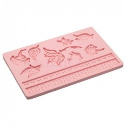 Moule silicone - feuille - rose