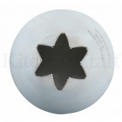 Embout moyen - poche a douille - etoile - 9 mm