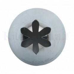 Embout moyen - poche a douille - etoile fermee - 6 mm