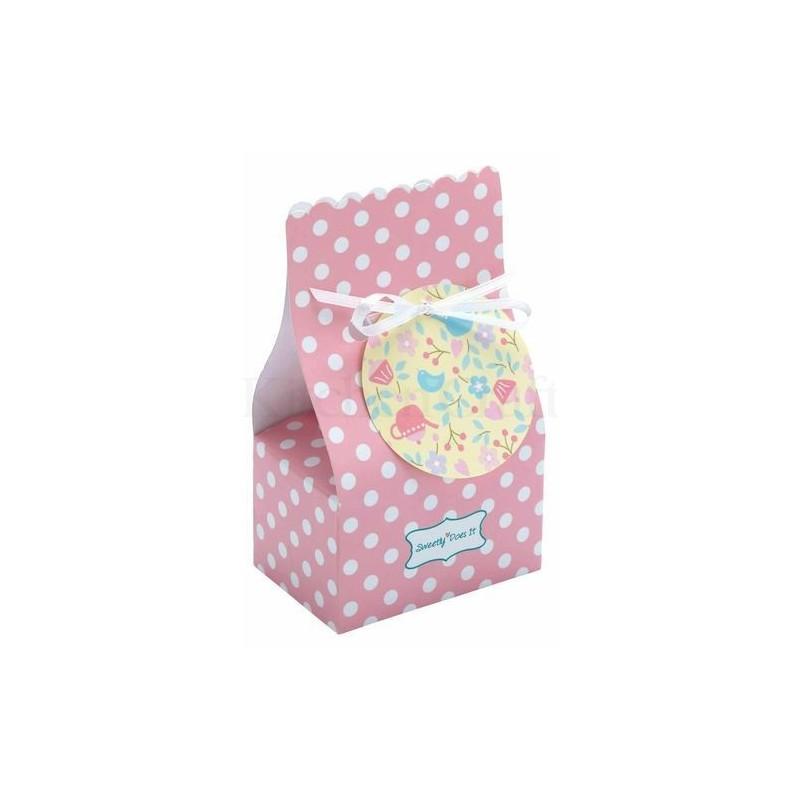 Lot de 8 sacs cadeaux - friandise - rose