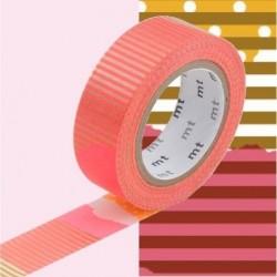 Masking tape - MT - pois rayures ocre et rose tsugihagi