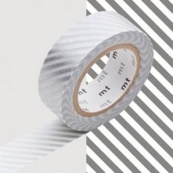 Masking tape - MT - rayé argent