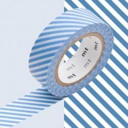 Masking tape - MT - rayé bleu clair