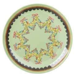 Mini-assiette à dessert - Mélamine - Rice - Mint flower