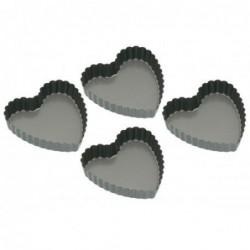 Pack de 4 mini moules  - coeur - kitchencraft
