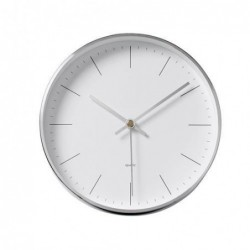Horloge murale en métal - Bloomingville - white/Silver