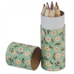 Cartouche de 12 crayons de couleurs - Daisy - Rex