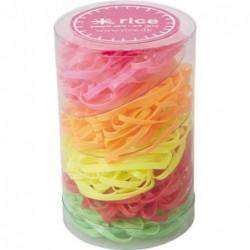 Elastiques multi-colores neon - Rice