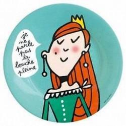 Assiette Princesse Je ne parle pas la bouche pleine - Le petit Jour Paris