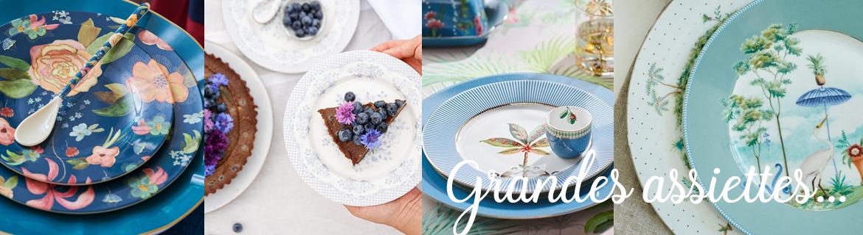 Acheter en ligne de jolies assiettes en porcelaine ou en mélamine