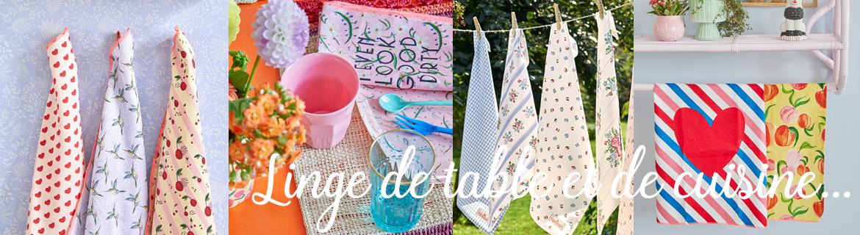 Acheter en ligne des serviettes de table fleuries de style nordique