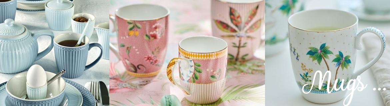 Trouver des mugs originaux en porcelaine ou mélamine style nordique