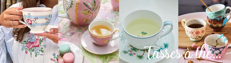 Grand choix de tasses à thé de qualité en porcelaine motifs originaux