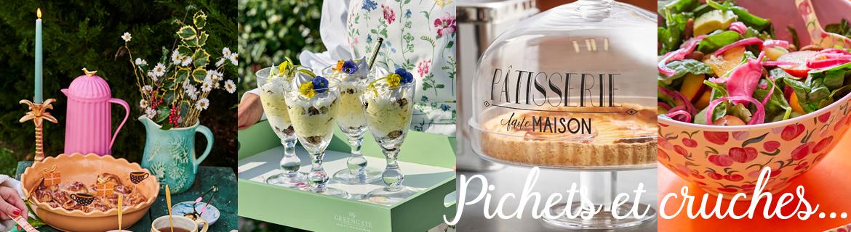 Acheter des pichets à eau, à lait ou crémiers à fleurs de bonne qualité