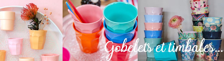 Acheter des gobelets en mélamine ou plastic pour enfant originaux