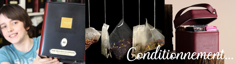 Vente en ligne de toute la gamme de thés en sachets infusettes Dammann