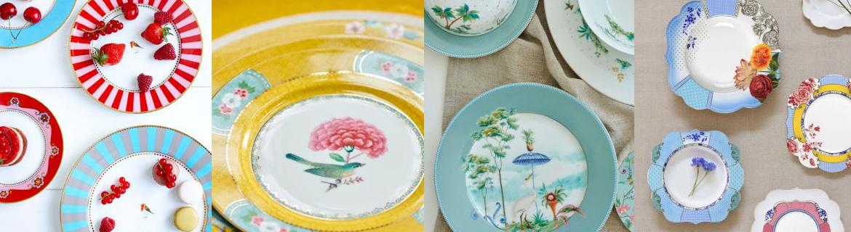 Les collections d'assiettes en porcelaine Pip Studio au meilleurs prix