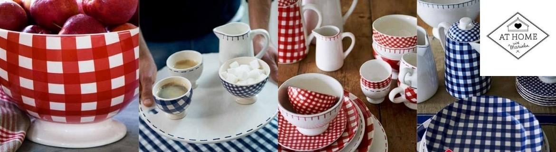 Acheter de la vaisselle à carreaux At Home with Marieke pas chère