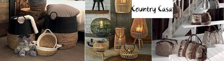 Acheter de la décoration rustique en matières naturelles Country Casa