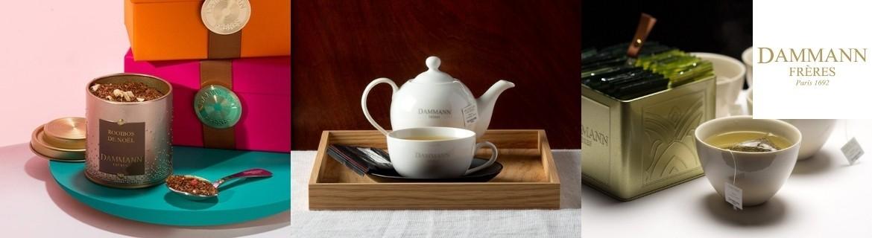 Vente en ligne de thés verts parfumés en vrac Dammann Frères pas chers