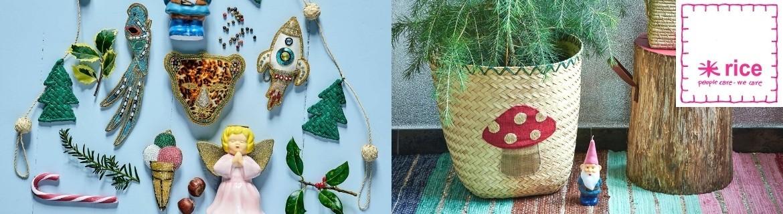 Acheter des décorations de Noël Rice : boules, anges, sapins...