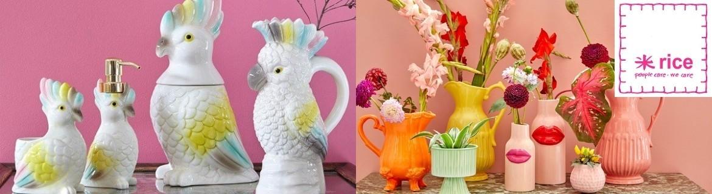 Acheter des objets de décoration Rice et des décors muraux kitsch