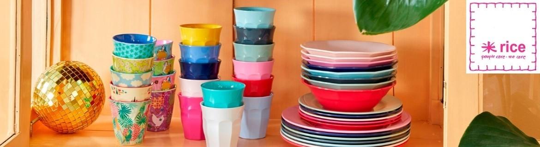 Acheter de la vaisselle en mélamine et de la déco Rice à petit prix