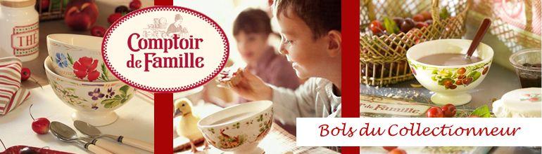Acheter en ligne les bols du collectionneur de Comptoir de Famille
